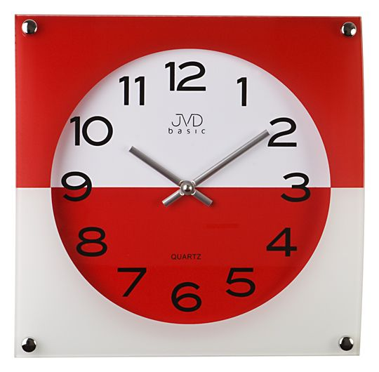 Nástenné hodiny JVD N28114.1 červené 30cm