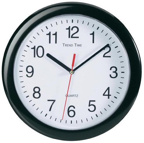 Nástenné hodiny Trend time, čierne 25 cm
