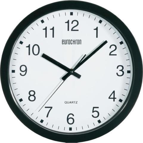 Nástenné hodiny Eurochron 881 čierne, 30 cm,
