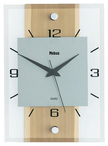 Nástenné hodiny Mebus, Buk 28cm