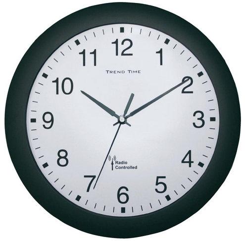 Nástenné hodiny DCF Trend time, čierne 30cm