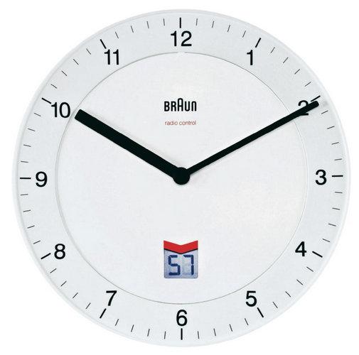 Nástenné hodiny DCF Braun, biele 20cm