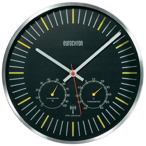 Nástenné DCF hodiny Eurochron s teplomerom a vlhkomerom, CZ02 30