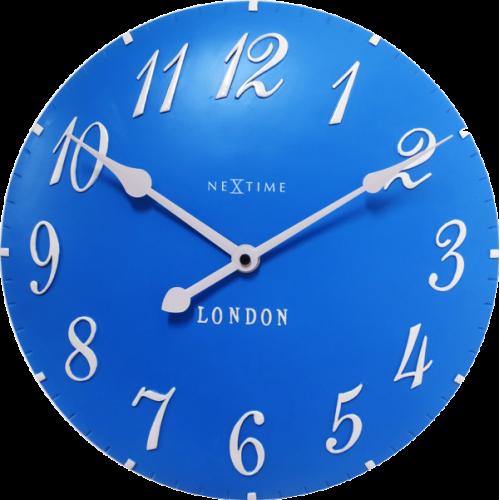 Nástenné hodiny 3084bl Nextime v aglickém retro štýle 35cm