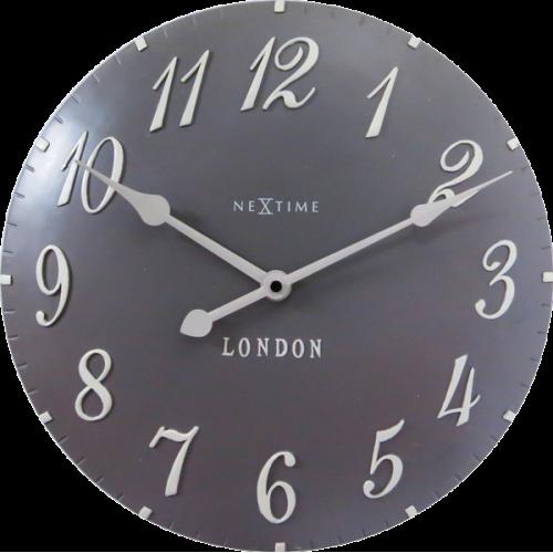 Nástenné hodiny 3084gs Nextime v aglickém retro štýle 35cm