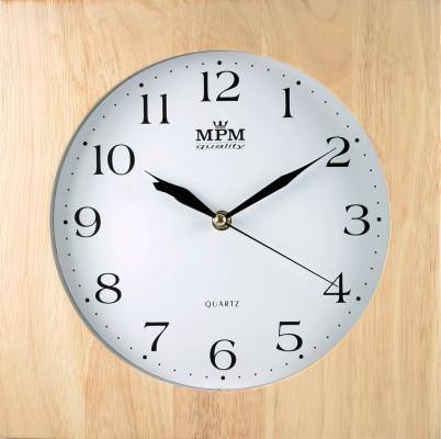 Nástenné hodiny MPM, 2494.53 - svetlé drevo, 30cm