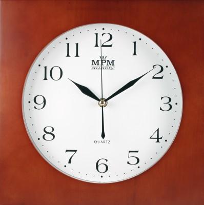 Nástenné hodiny MPM, 2494.54 - tmavé drevo, 30cm
