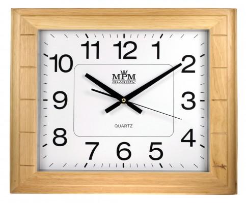 Nástenné hodiny MPM, 2496.53 - svetlé drevo, 45cm