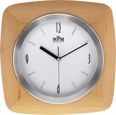 Nástenné hodiny MPM, 2714.53 - svetlé drevo, 32cm