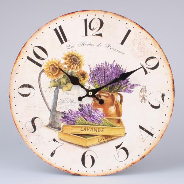 Nástenné hodiny HLC, Les Herbes de Provence, 34cm
