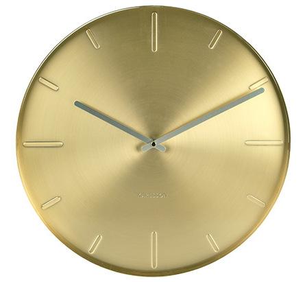 Nástenné hodiny 5594GD Karlsson, Belt, 40cm