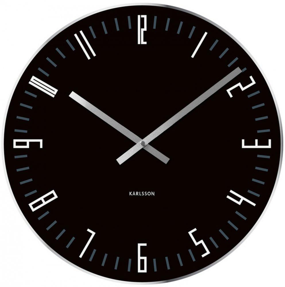 Nástenné hodiny Karlsson 4922, Slim index, 40cm