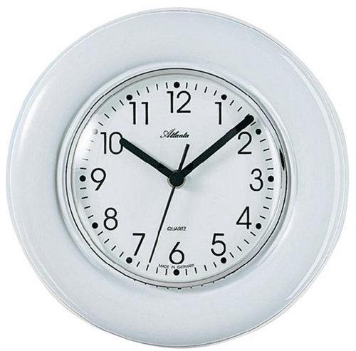 Nástenné keramické hodiny Atlanta, biele 24 cm