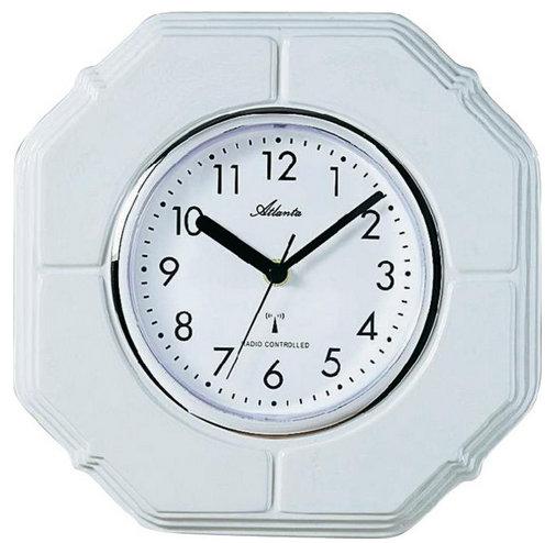Nástenné keramické DCF hodiny Atlanta , biele 25cm