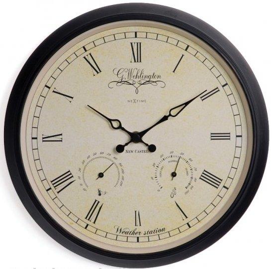 Nástenné retro hodiny Nextime 2969 WEATHER STATION 25cm