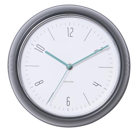 Nástenné retro hodiny 5525GY Karlsson 25cm