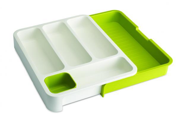 Priehradky na príbory Jospeh Joseph DrawerStore ™, biele / zelený