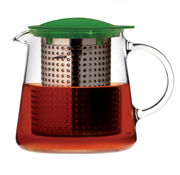 Sklenená kanvica na čaj FINUM Tea Control ™ 0,8 L, zelená