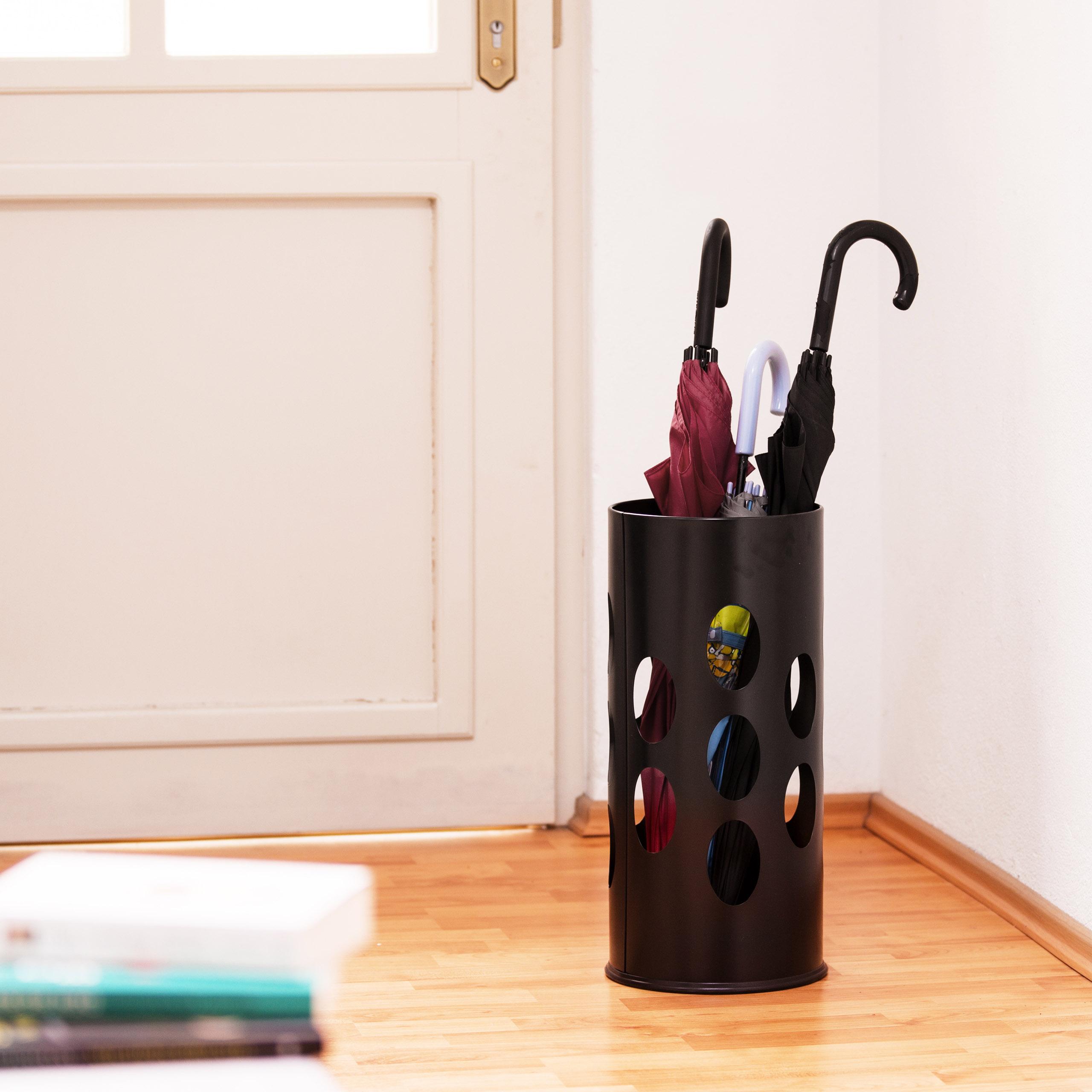 Stojan na dáždniky Relax, RD0140, čierny