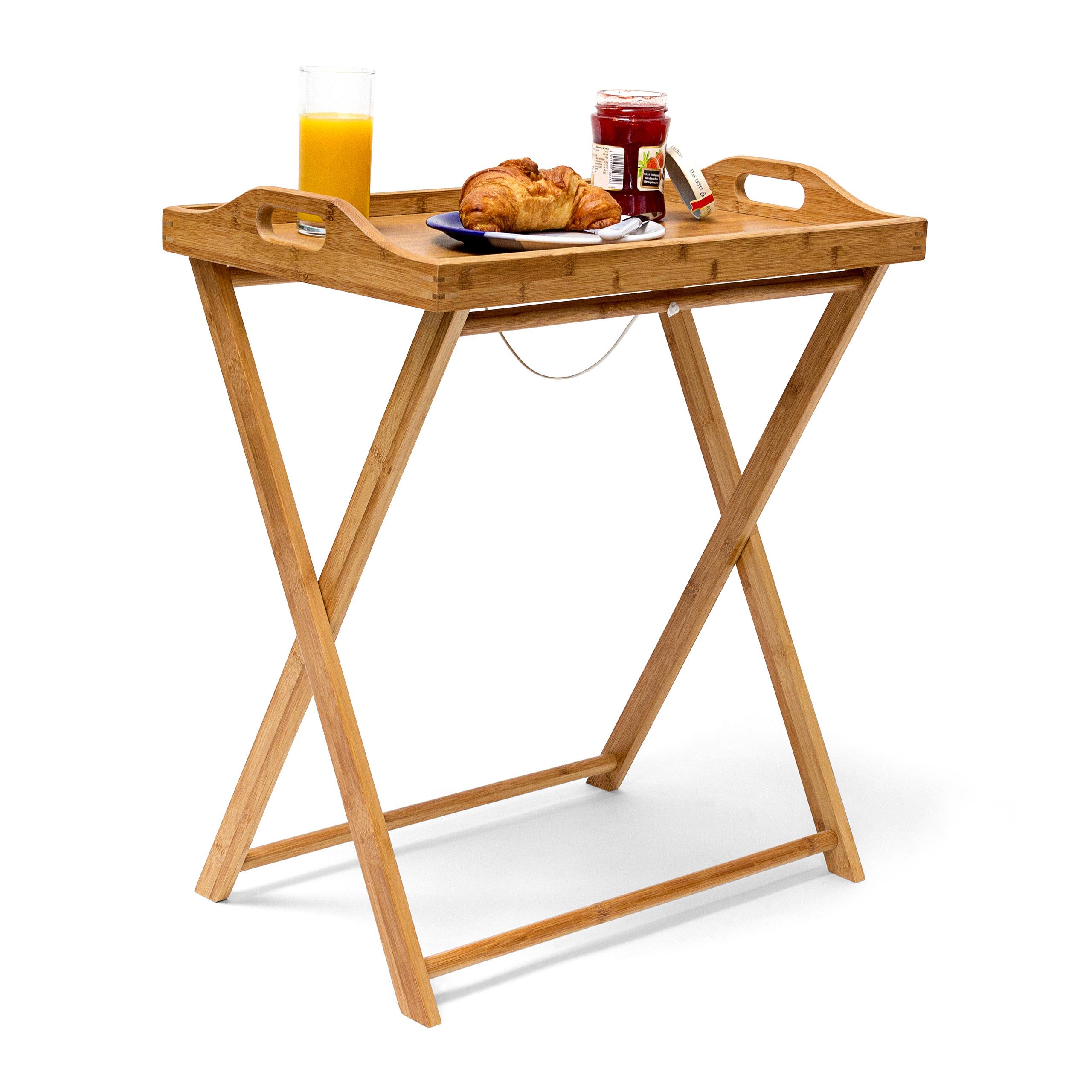 Stolík na raňajky so stojanom, Bamboo, RD9136