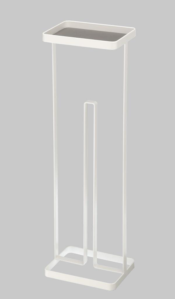 Zásobník na toaletné papiere s poličkou Yamazaki Tower, biely