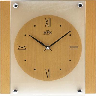 Nástenné hodiny MPM, 2706.53 - svetlé drevo, 26cm