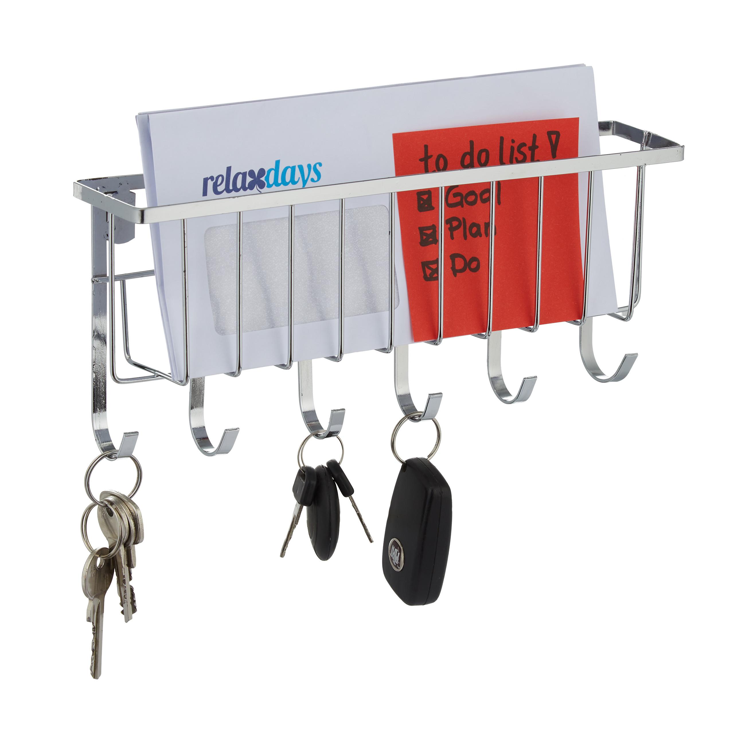 Vešiak na kľúče s poličkou na listy RD8008