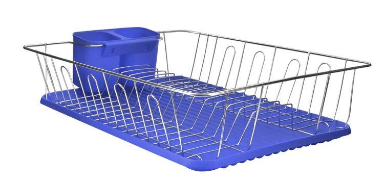 Odkvapkávač na riad a príbory, IT5339, modrý