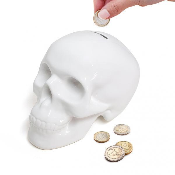 Pokladnička Balvi Skully biela