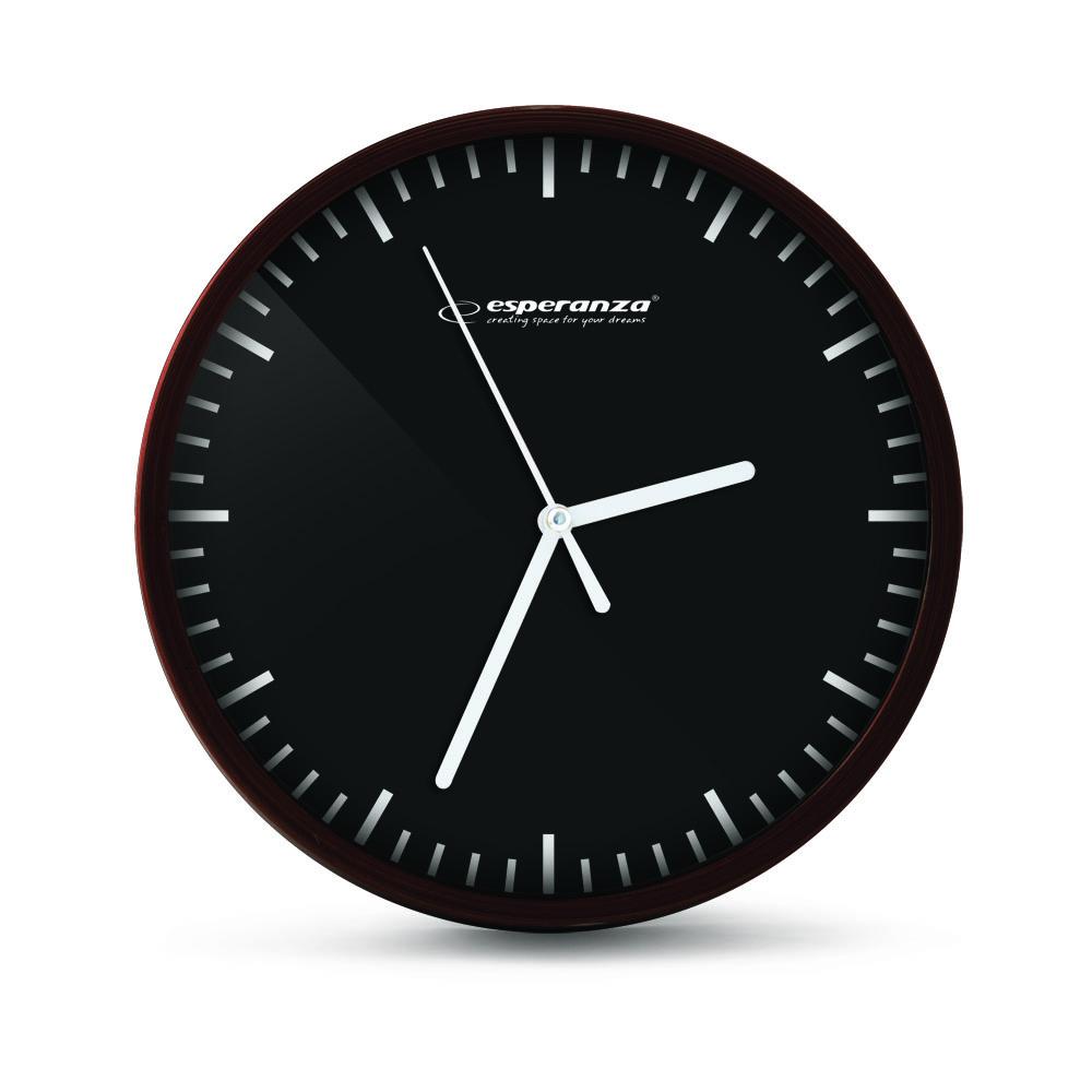 Nástenné hodiny ESPA BUD010K, čierne 20cm