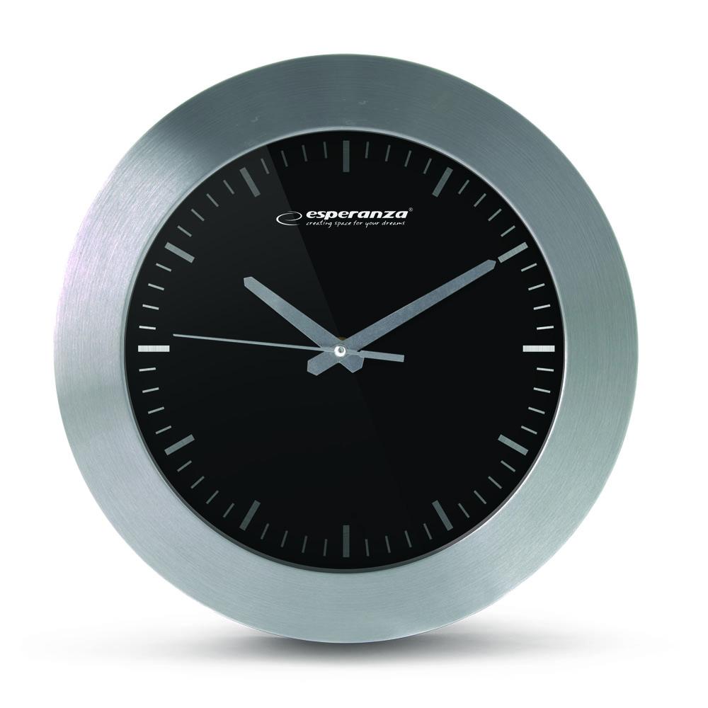 Nástenné hodiny ESPA HOU011K, čierne 25cm