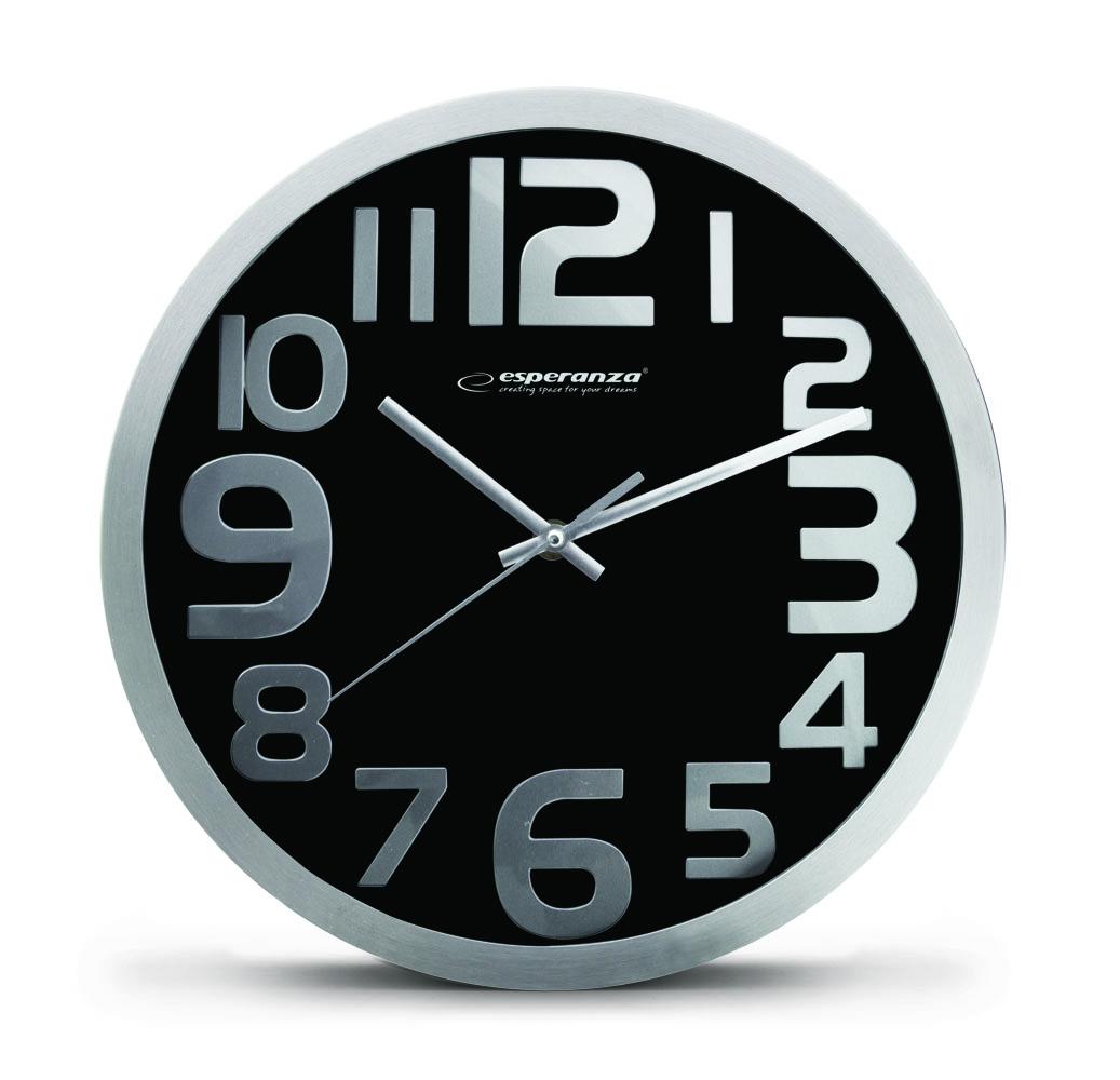 Nástenné hodiny ESPA HON012K, čierne 30cm
