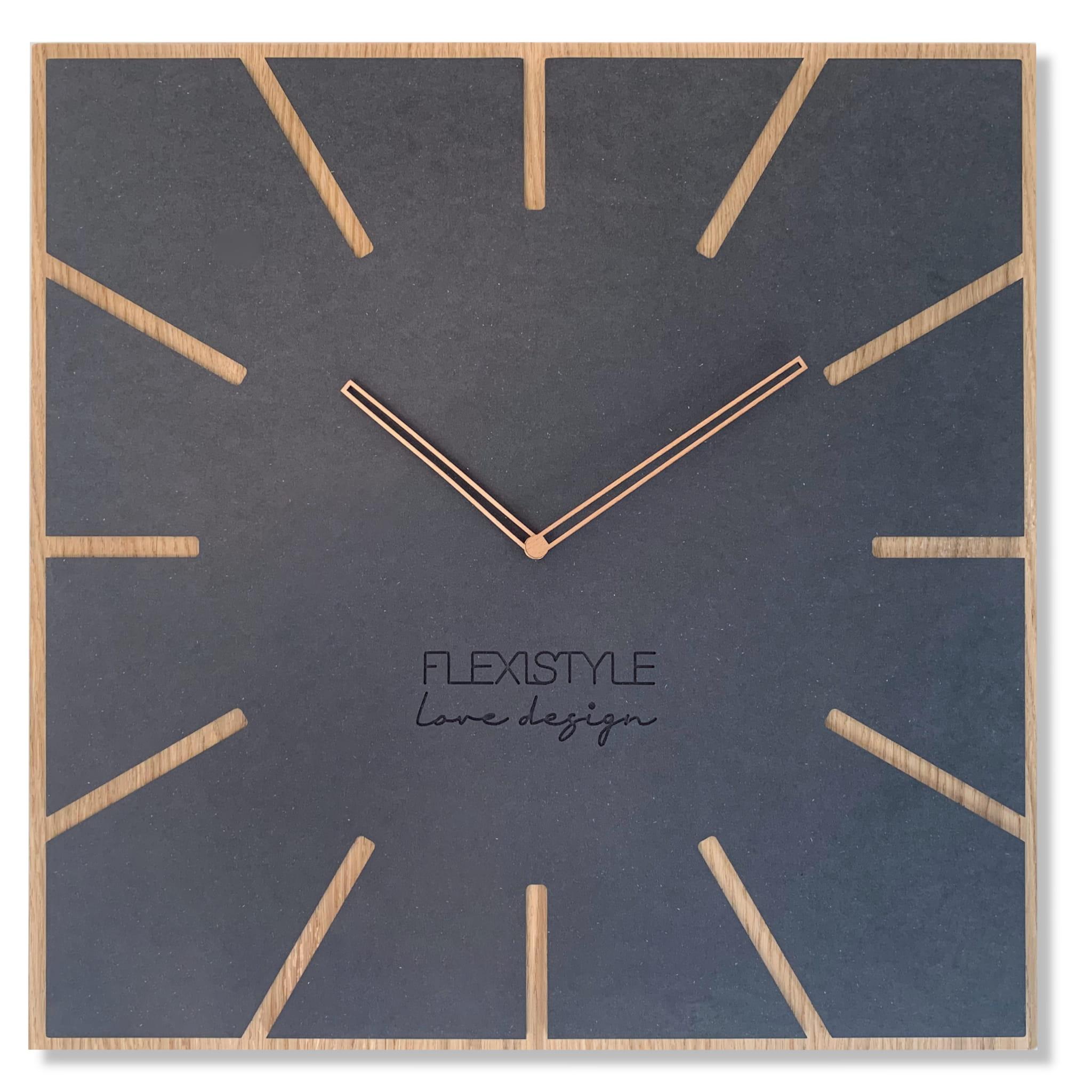 Nástenné drevené hodiny Eko Exact 4 Flex z119 1 matd-dx, 50 cm