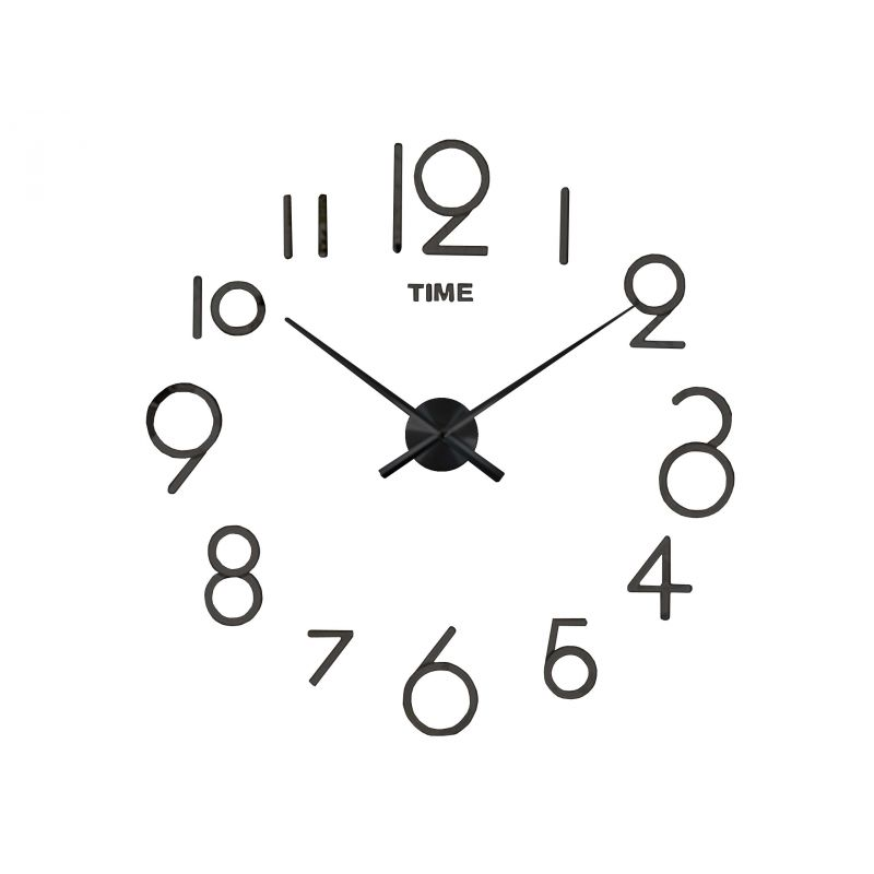 3D Nalepovacie hodiny DIY Clock Evevo 8280bXL, čierne, 90-130cm