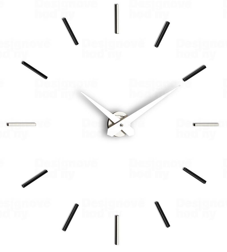 Designové nástenné hodiny I200MN IncantesimoDesign 90-100cm, black
