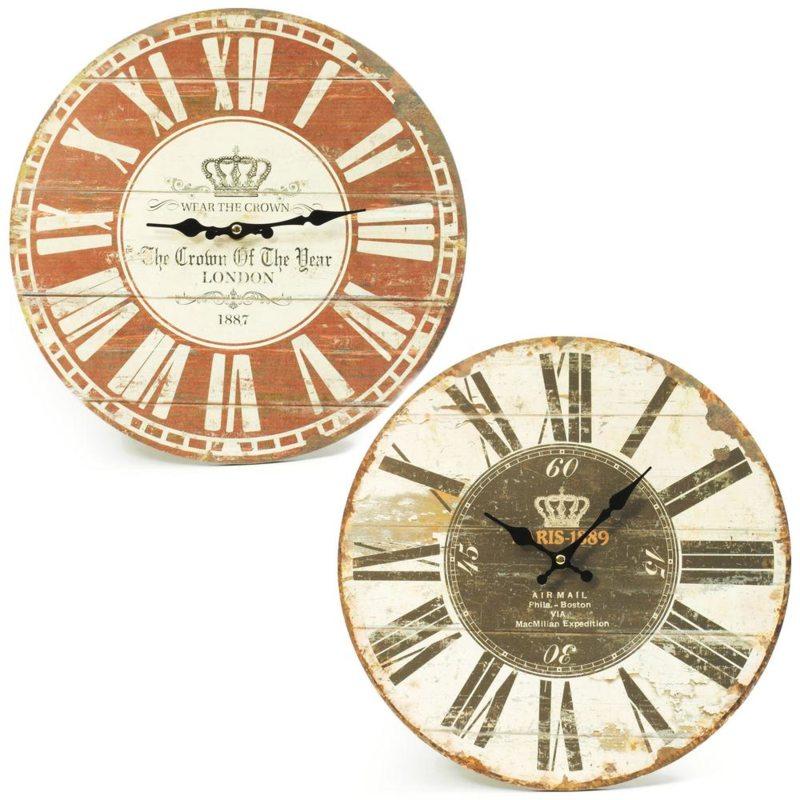 Nástenné hodiny RIS 1889, Flor1726, hnedé 34cm