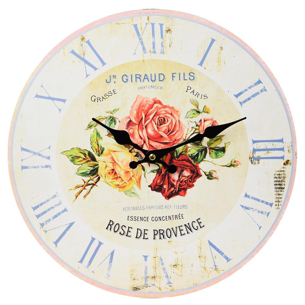 Nástenné hodiny, Flor0120, Rose De Provence, 34cm