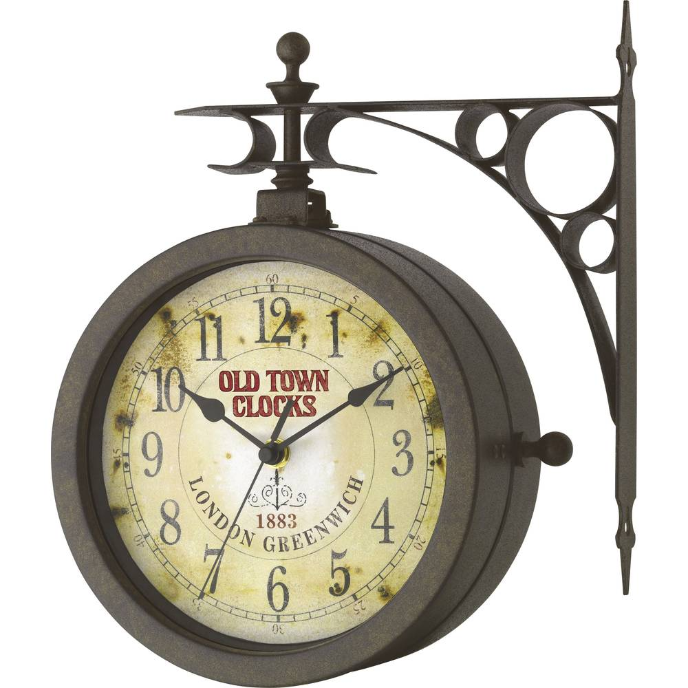 Nástenné exteriérové retro hodiny TFA Nostalgy s teplomerom