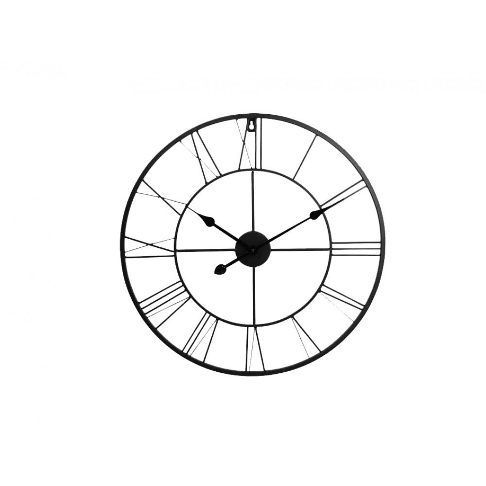 Nástenné kovové hodiny XL 60cm, KEM44