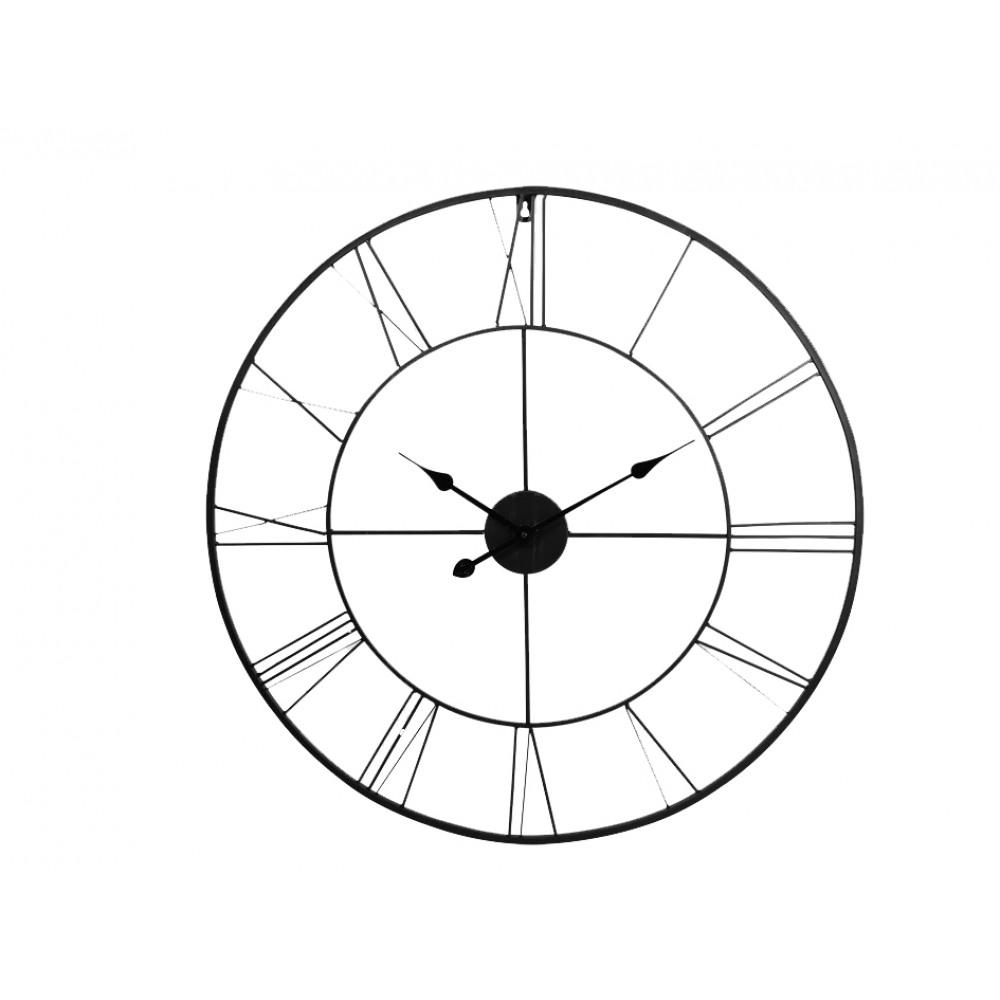 Nástenné kovové hodiny XXL 80cm, KEM46