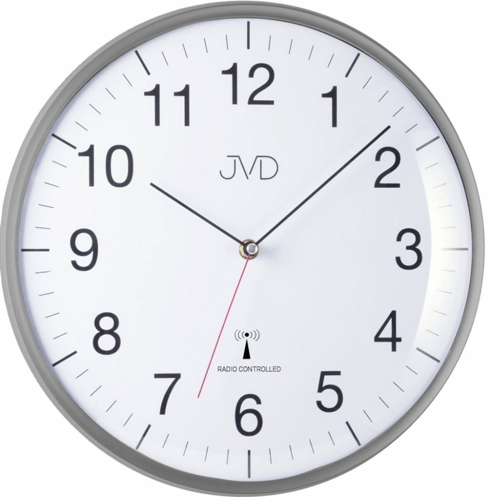 Nástenné hodiny JVD RH16.2, DCF, 33cm