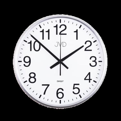 Nástenné hodiny JVD HP684.1 strieborné, sweep, 31cm