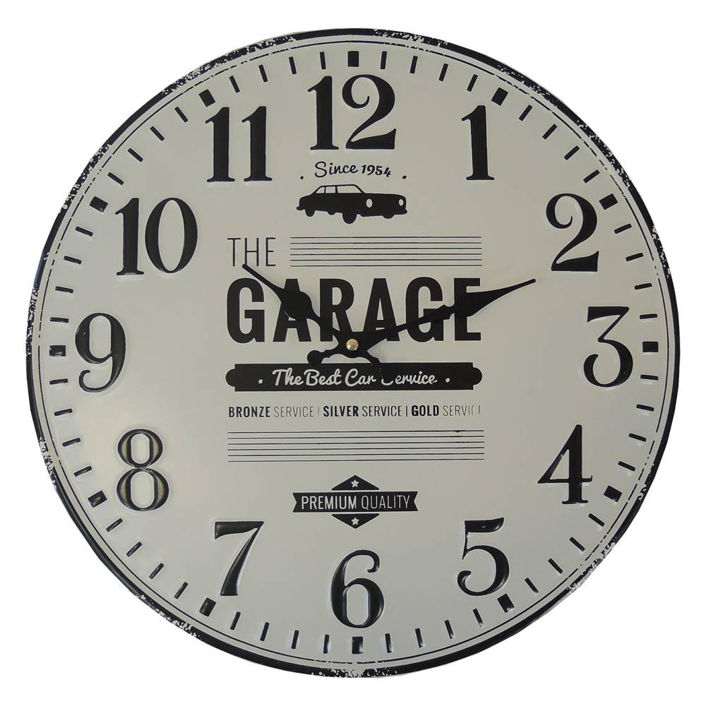 Nástenné hodiny kovové Vintage, Garage, HM12MH, 40cm