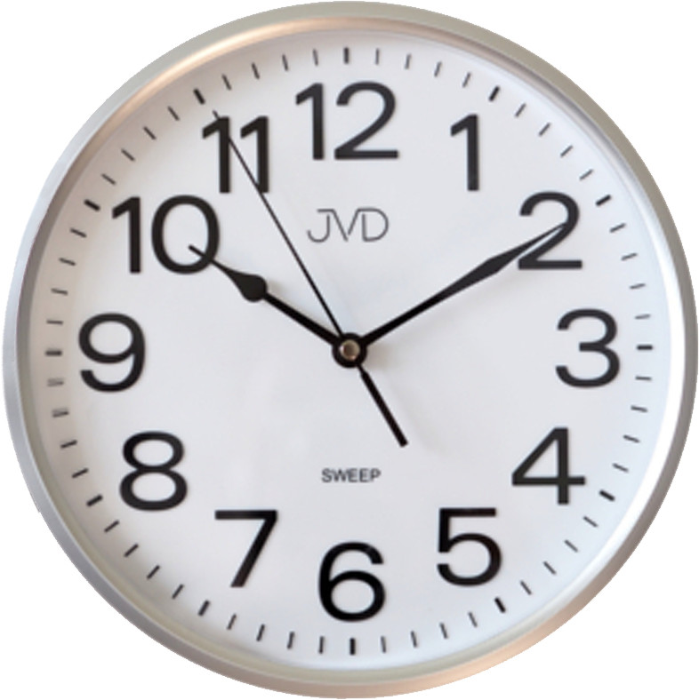 Nástenné hodiny JVD HP683,1 strieborné, sweep, 26cm