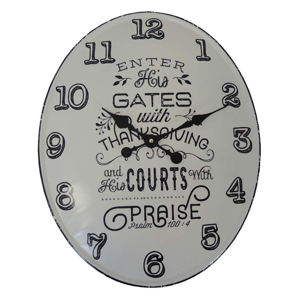 Nástenné hodiny kovové Vintage, Courts HM10MH, 49cm