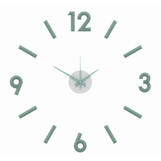 Nalepovacie nástenné hodiny, MPM 3771.40, zelené mint, 60cm