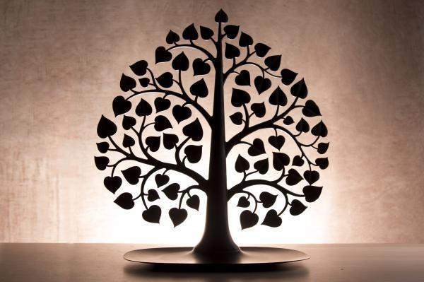 Stojanček na šperky Qualy Bodhi Accessories Tree, čierny