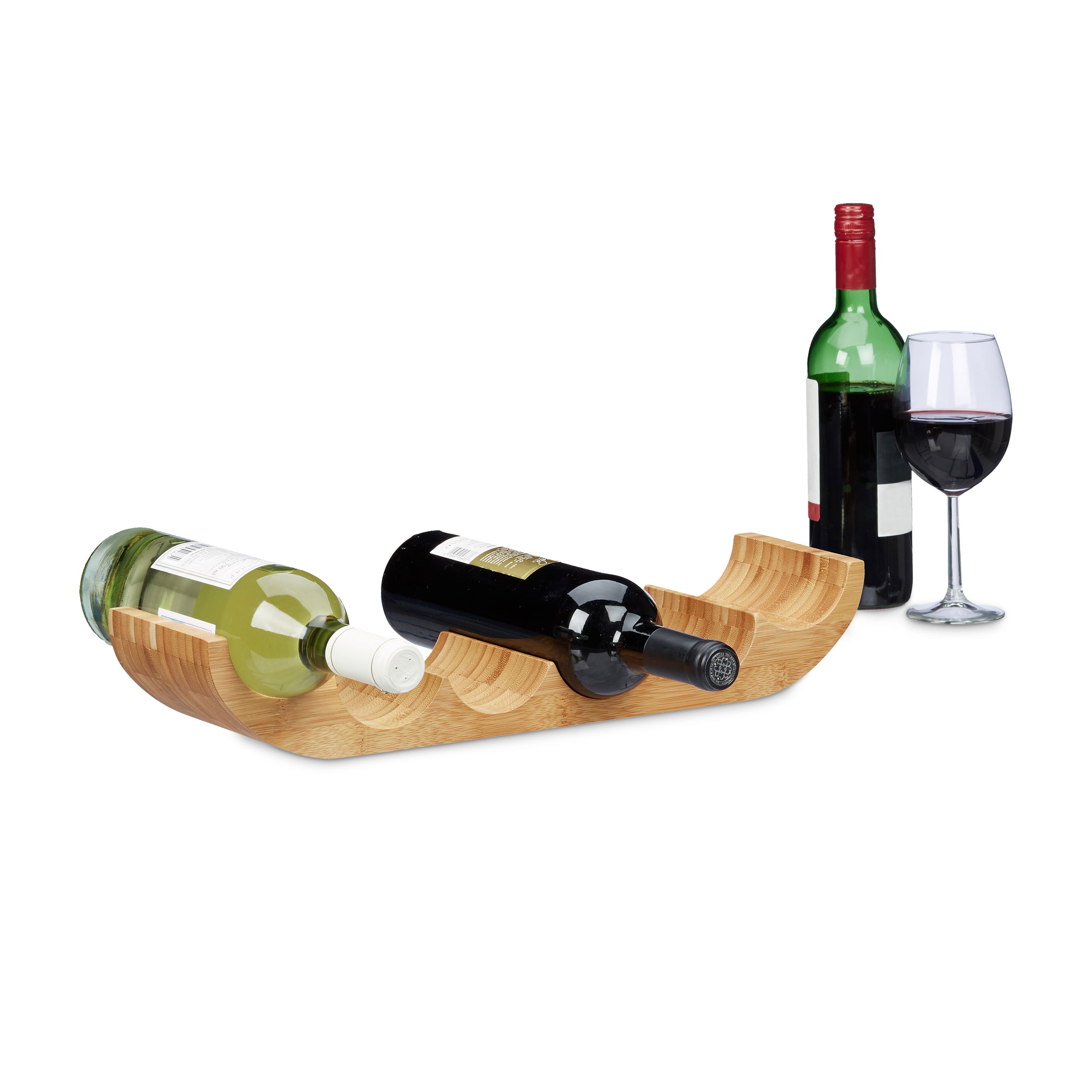 Stojan na víno bambusový, 6 fliaš, rd0244