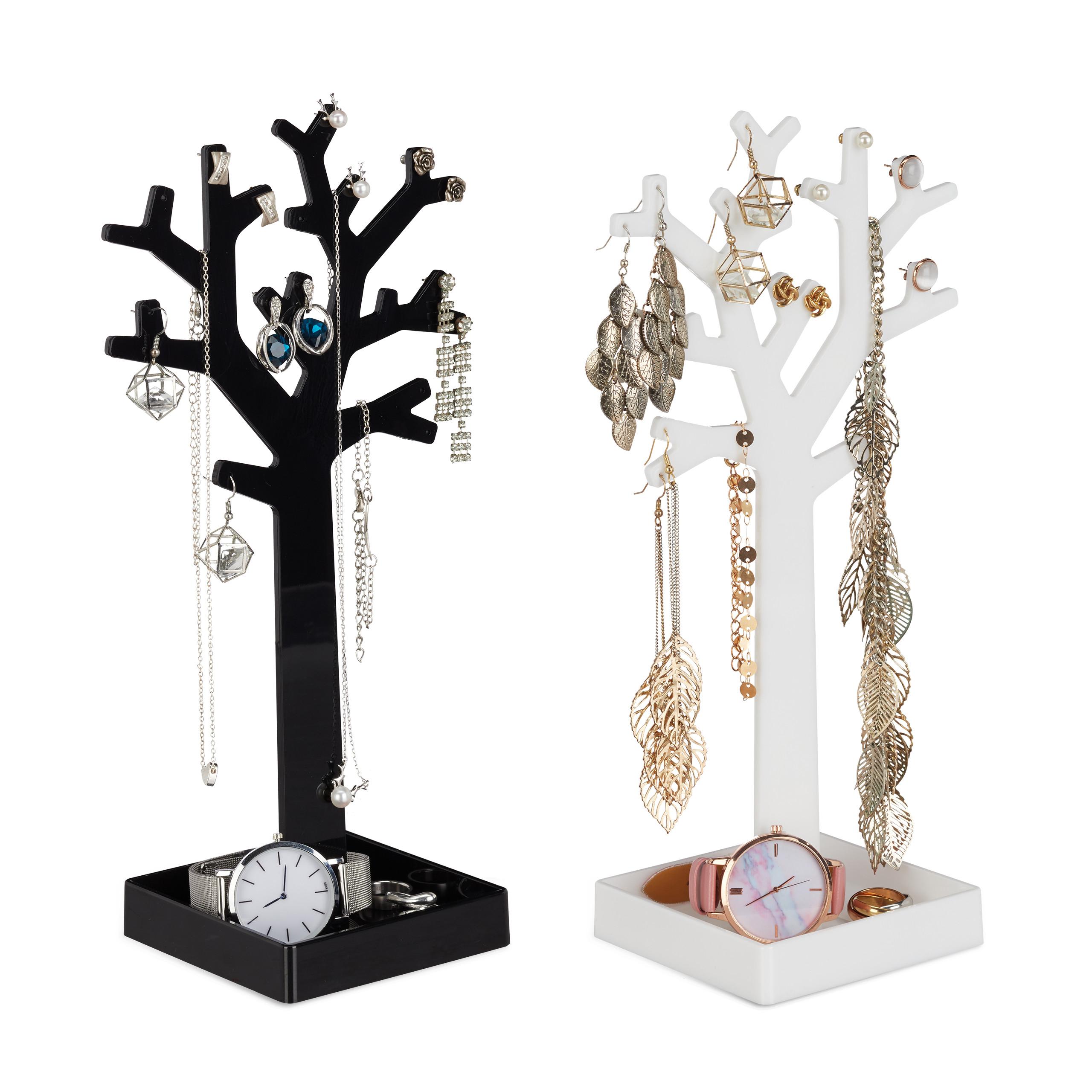 Stojan na šperky a náušnice Strom, sada 2ks RD6569