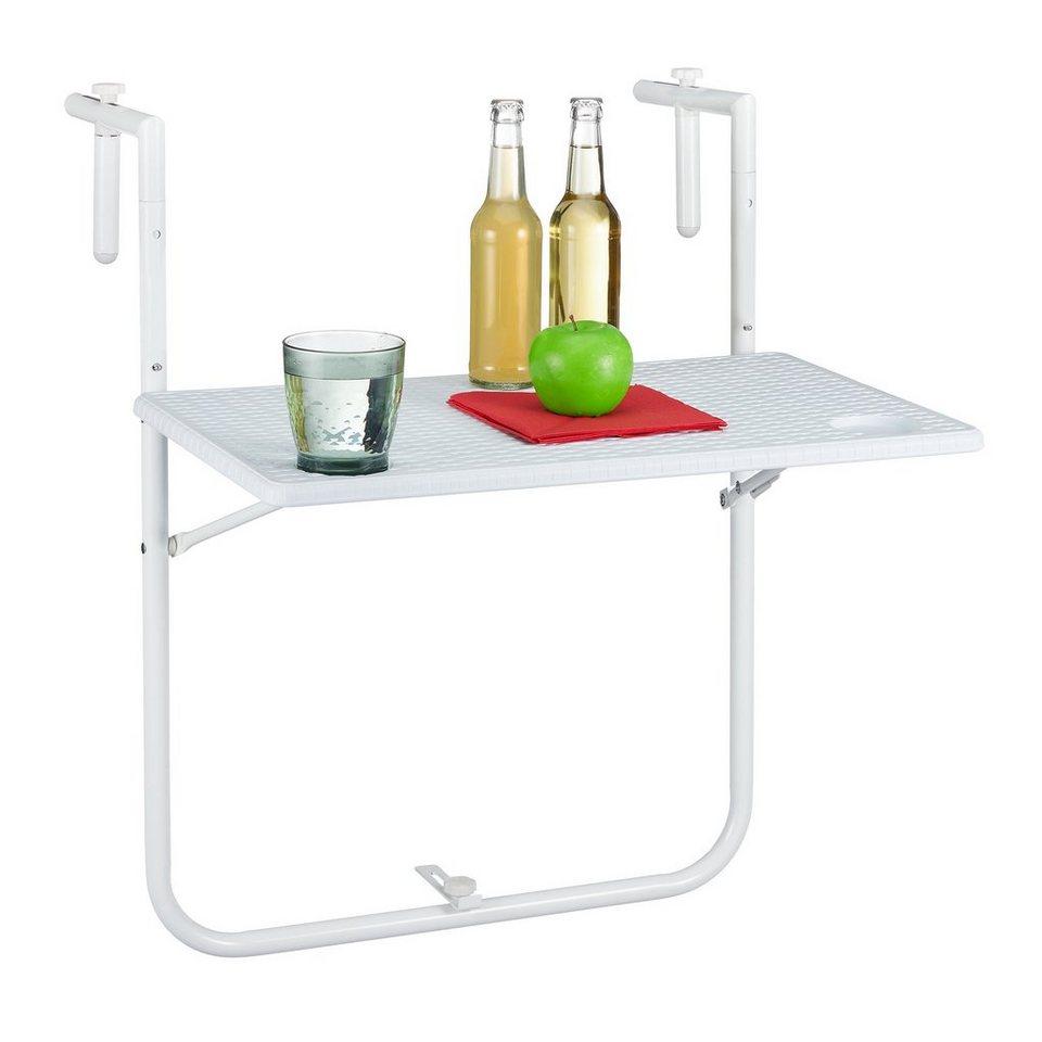 Závesný stôl na balkón RD5754, biely
